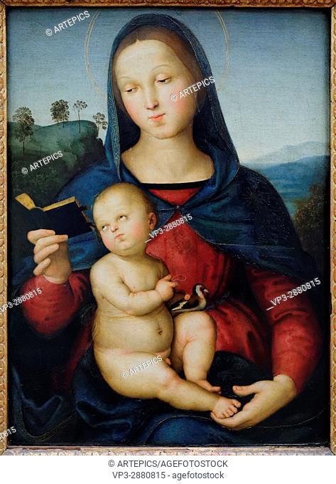 Raffaello Santi - Raffael - Maria and the Child (Madonna Solly) - 1502 - XVI th Century - Italian School - Gemäldegalerie - Berlin