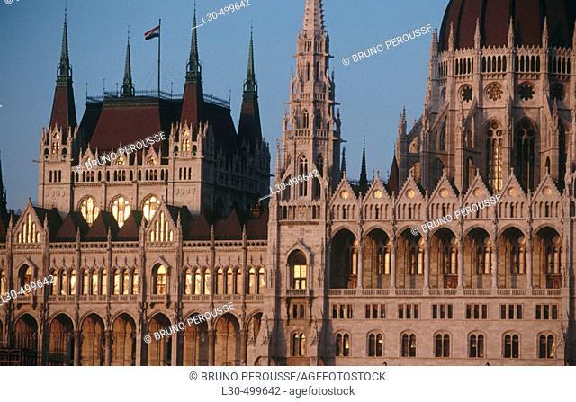 Hungarian Parliament Building, Budapest. Hungary