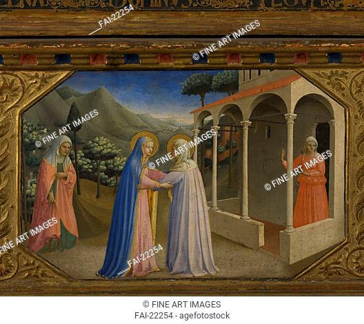 The Visitation (The Annunciation retable with 5 Predella scenes). Angelico, Fra Giovanni, da Fiesole (ca. 1400-1455). Tempera on panel. Renaissance