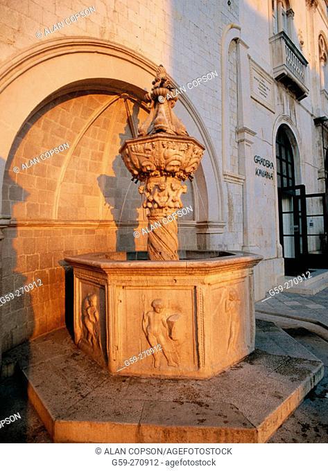 Little Onofrio's Fountain (by Onofrio della Cava). Dubrovnik. Croatia