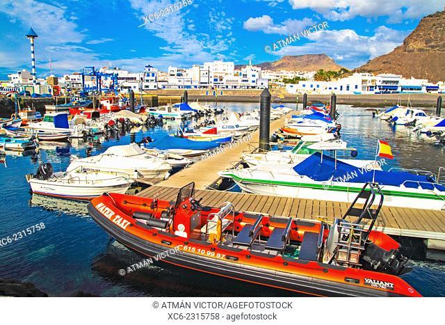 Marina of Agaete municipality. Gran Canaria island
