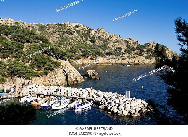 France, Bouches du Rhone, Marseille, the Cote Bleue the Blue Coast, the Calanque de Mejean