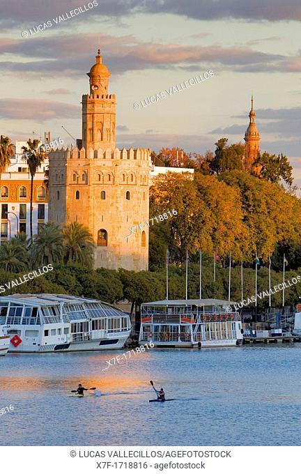 Gold tower, as seen from Guadalquivir river,Sevilla,spain