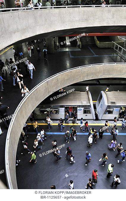 Praca da Se metro station, Sao Paulo, Brazil, South America