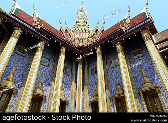 Bangkok, Wat Phra Kaew on The Grand Palace. Thailand