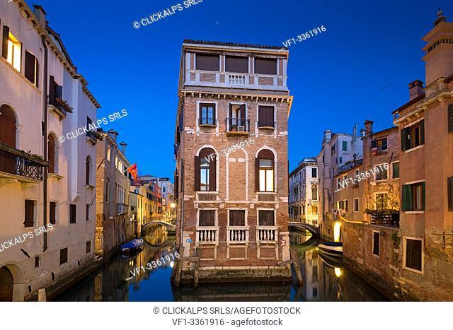 Venice at dusk. Veneto, Italy, Europe