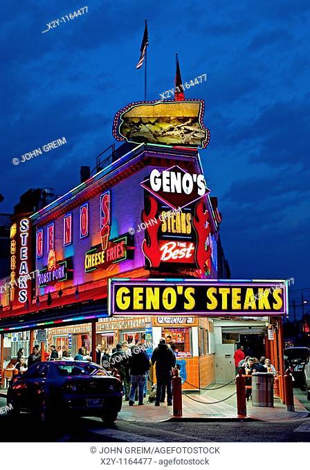 Famous Geno's Steaks, South Philly, Philadelphia, PA, USA