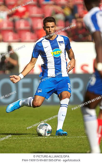 14 September 2019, Rhineland-Palatinate, Mainz: Soccer: Bundesliga, FSV Mainz 05 - Hertha BSC, 4th matchday in the Opel Arena. The Berlin Marko Grujic