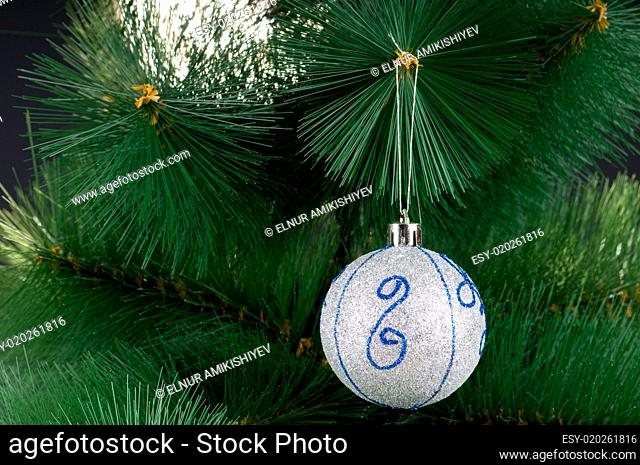 Christmas decoration on the tree - holiday concept