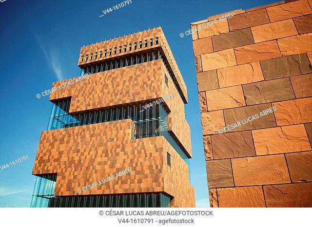 MAS Museum, Willemdock. Antwerp. Flanders, Belgium