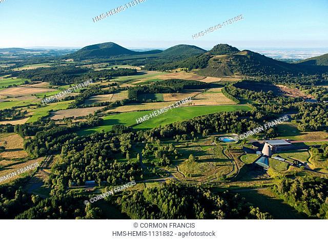 France, Puy de Dome, Parc Naturel Regional des Volcans d'Auvergne (Natural regional park of Volcan d'Auvergne), Chaine des Puys, Saint Ours les Roches, Vulcania