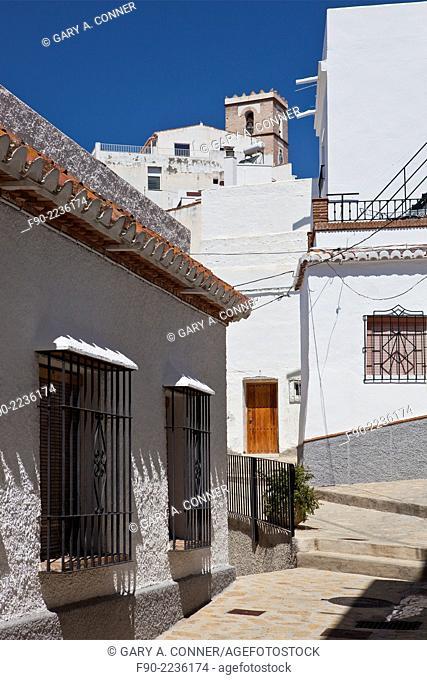 Passageway. hillside houses. Salobrena. Spain