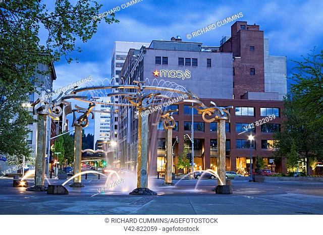 Riverfront Park Fountain, Spokane, Washington State, USA