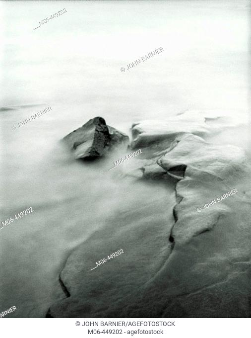 Pinhole image of water on the shore of Lake Superior in Northern Minnesota
