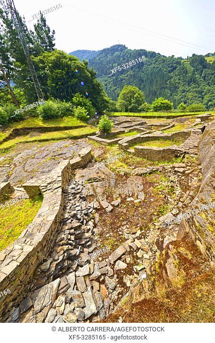 Castro de Os Castros, Celtic-Roman Archaeological Site, Taramundi, Asturias, Spain, Europe