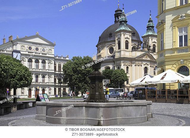 Czech Republic, Kromeriz, Judicial Academy, St John the Baptist Church,