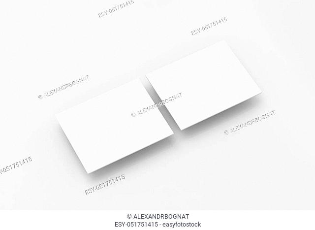 Blank white rectangles computer web-site design mockup, clipping path, 3d rendering. Web app display interface mock up. Website ui template for browser screen