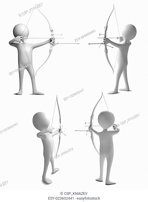 Characters shoot a bows