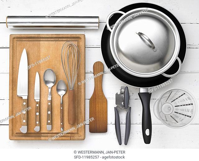 Kitchen utensils for preparing breaded escalopes