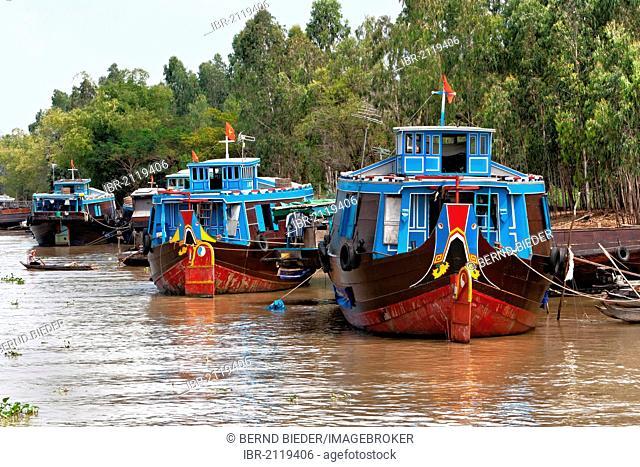 Boats, Mekong Delta, Vietnam, Southeast Asia, Asia