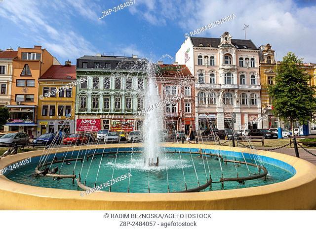 Fountain, Teplice v Cechach, spa town, Northern Bohemia, Czech Republic