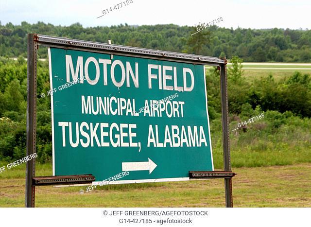 Black history, World War II airmen, heroes. Moton Field, Tuskegee Airmen National Historic Site. Alabama. USA