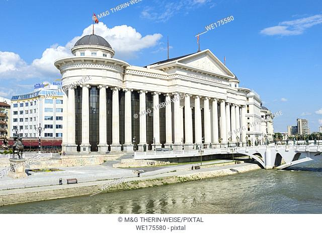 Archaeological Museum of Macedonia along the Vardar River, Skopje, Macedonia
