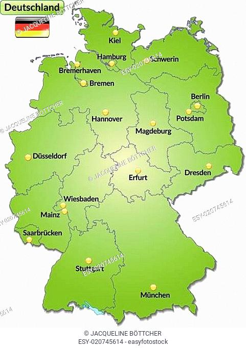 Map Germany State Stock Photos And Images Agefotostock