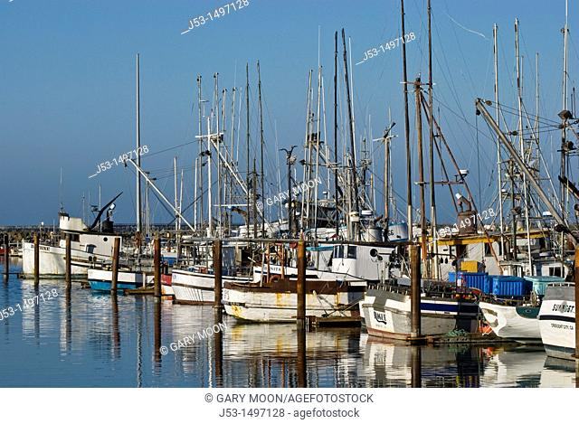 Commercial fishing boat harbor, Crescent City, California before March 11, 2011 tsunami