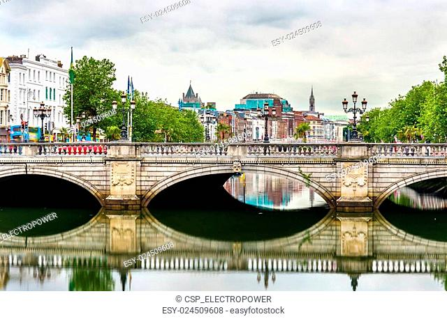 View of Dublin with the O'Connell Bridge - Ireland