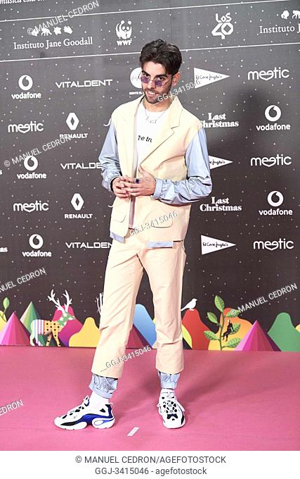 Don Patricio attends Los 40 Music Awards at Wizink Center on November 8, 2019 in Madrid, Spain