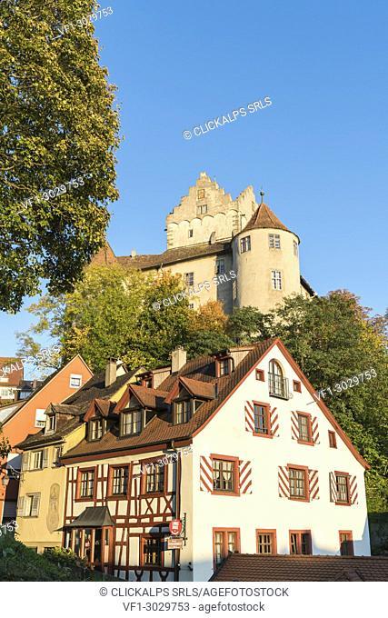 Old Castle and timber-framed house. Meersburg, Baden-Württemberg, Germany