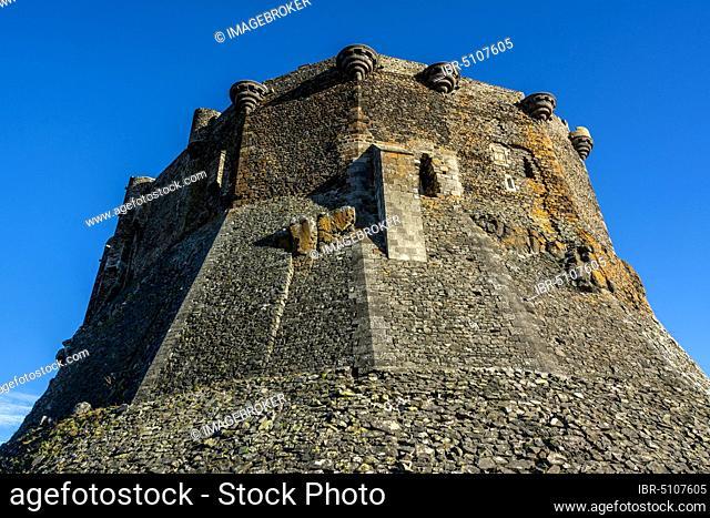 Murol medieval castle, Puy de dome department, Regional Natural Park of the Auvergne volcanoes, Auvergne-Rhone-Alpes, France, Europe