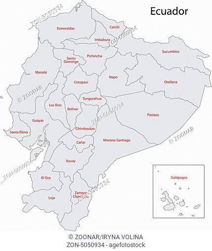 Grey Ecuador map