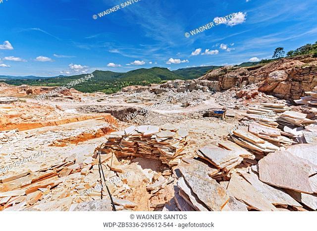 Quartzite mining. Quartzite is a hard, non-foliated metamorphic rock which was originally pure quartz sandstone. Sandstone is converted into quartzite through...