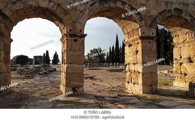 Hierapolis Nothern Roman Gate. Ancient Greece. Asia Minor. Turkey