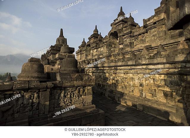 Borobudor temple in Java, Indonesia