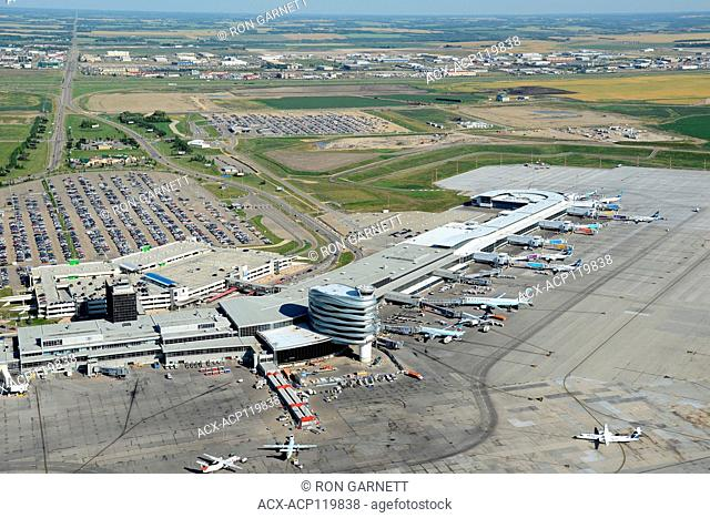 aerial, Edmonton International Airport CYEG, Nisku, Alberta