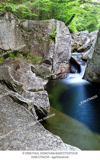 Lost River in Kinsman Notch of Woodstock, New Hampshire during the summer months