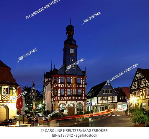 Old town hall, built in 1715, Marktplatz square, Lorsch, Bergstrasse district, Hesse, Germany, Europe