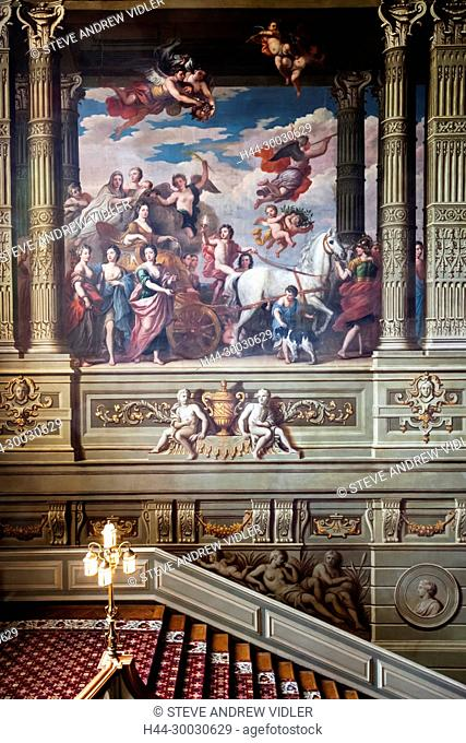 England, West Sussex, Petworth, Petworth House, The Grand Staircase
