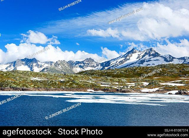 Lake Totesee at the Grimsel Pass, Switzerland