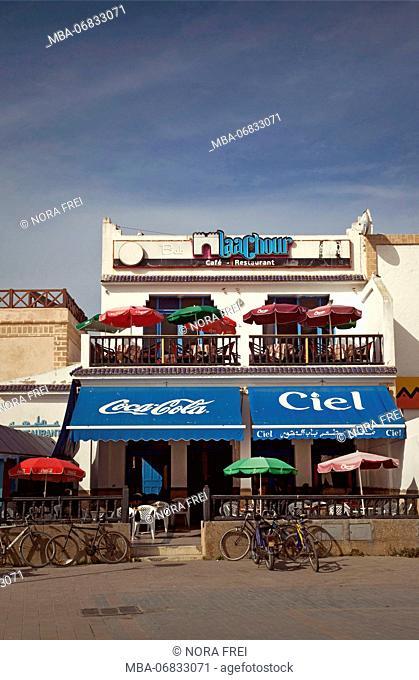 Houses, restaurant, Essaouira, Morocco