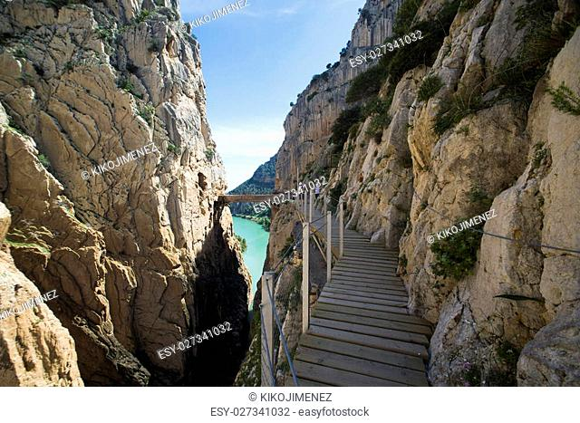 'El Caminito del Rey' (King's Little Path), World's Most Dangerous Footpath reopened in May 2015 a safer footpath was installed above the original