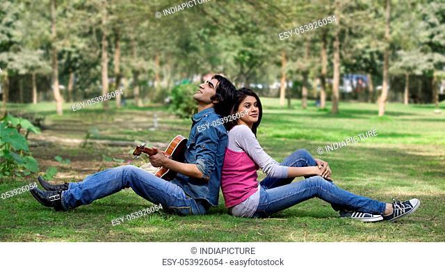 Couple relaxing