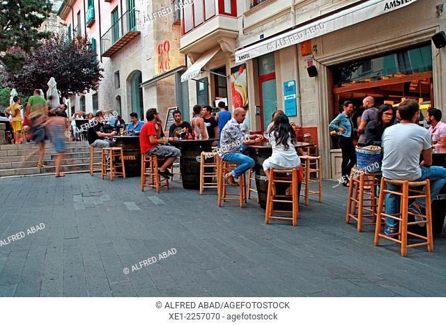 Terrace, bar, Figueres, Catalonia, Spain
