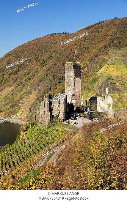 Castle ruin Metternich, Beilstein, Moselle, Rhineland-Palatinate, Germany