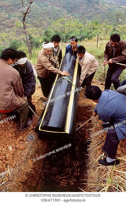 Han funeral, pingtang, guizhou, China