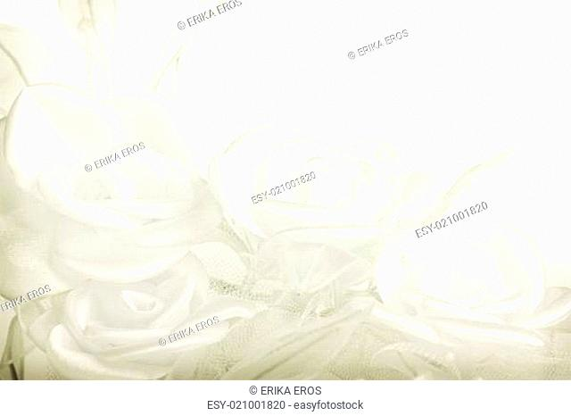 Textile wedding background with pastel roses