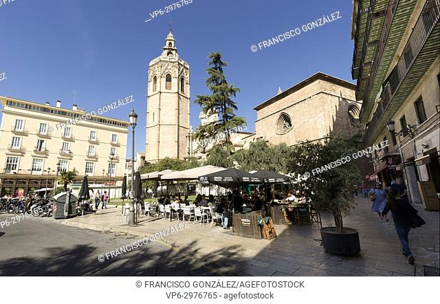 Valencia Spain. October 25, 2017: The Metropolitan Cathedral-Basilica Church of the Assumption of Our Lady of Valencia, popularly called the Seu in Valencian